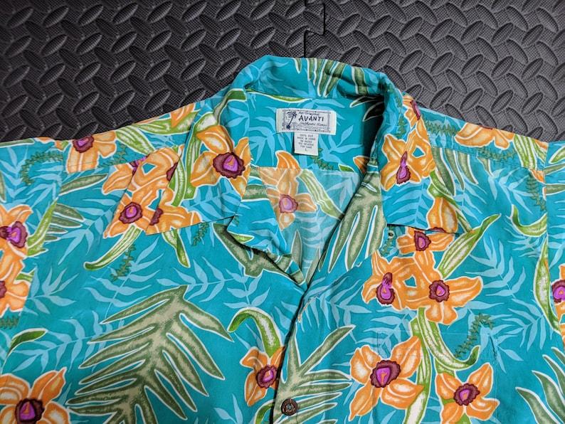 c554c2ad Vintage Aloha Shirt. Aloha Island Silk Material. Rockabilly   Etsy