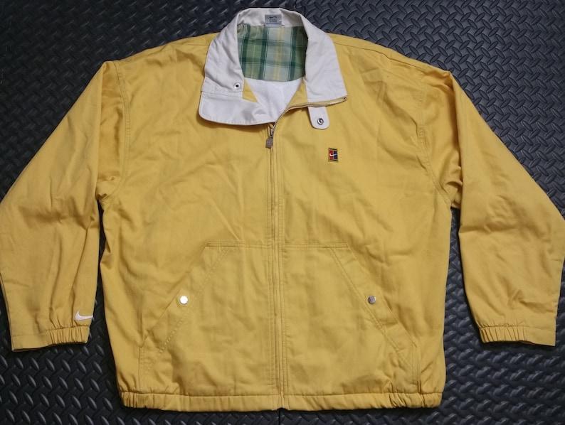 6243d3d476f34 Vintage 90's Jacket Men's NIKE Golf sz LARGE Mustard Yellow - Full Zipper  Retro Preppy Look