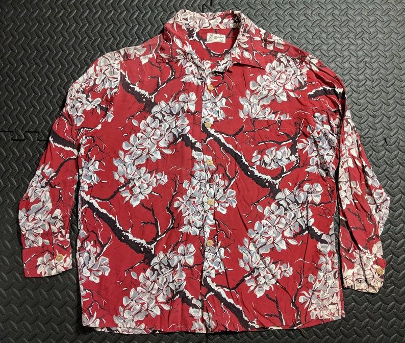 e1339f0e Vintage Aloha Hawaiian Shirt. Rare 1950's Mid Century | Etsy