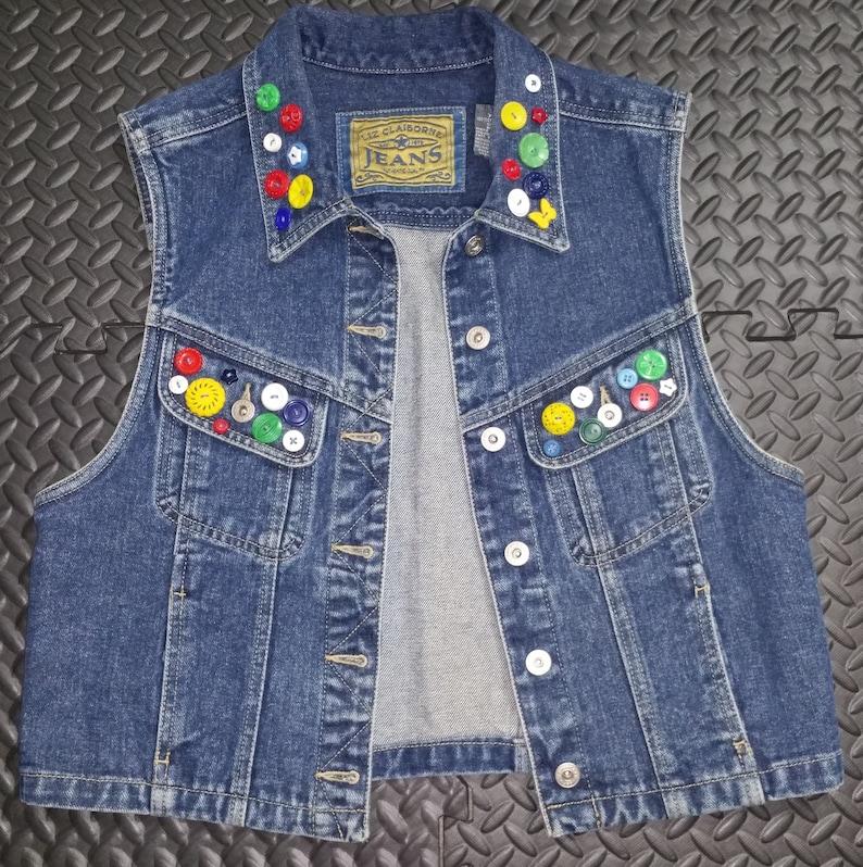 ad8c6583 Vintage Women's Denim Vest 1990's Liz Claiborne Jeans | Etsy