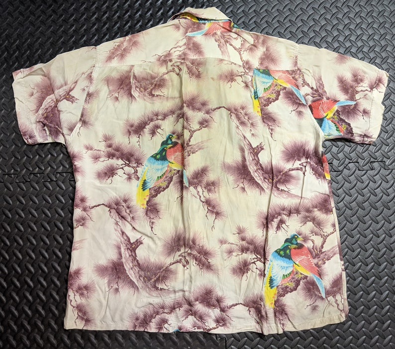 16083add Vintage Hawaiian Shirt. Aloha 50's to 60's Rayon. | Etsy