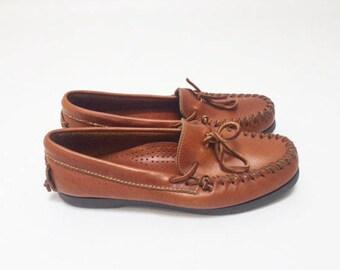 b0084792d80 90s Minimalist LL BEAN Leather Moccasins-10