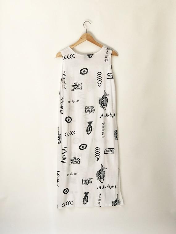 90s White Maxi Dress // Cotton Minimalist dress//… - image 5
