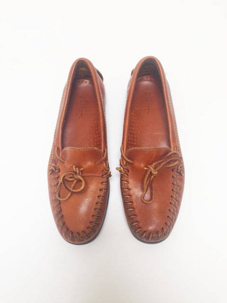 2a6c4fabc39 SALE  90s LL BEAN Leather Moccasins-10