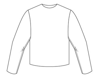 Basic Bodice Block Pattern (with sleeve) - Boys/Unisex Ages 3-6 - Download PDF