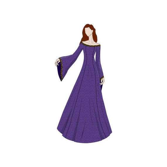 Ab Schulter Abend Kleid Mittelalter Schnittmuster Größen | Etsy