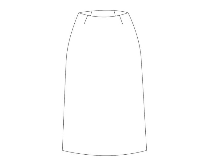 Basic Skirt Block Pattern - Sizes 8-22 - Download PDF