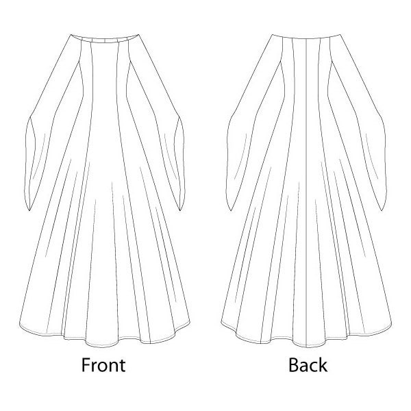 Off Shoulder Evening Dress Medieval Sewing Pattern - Sizes 8-22 UK ...