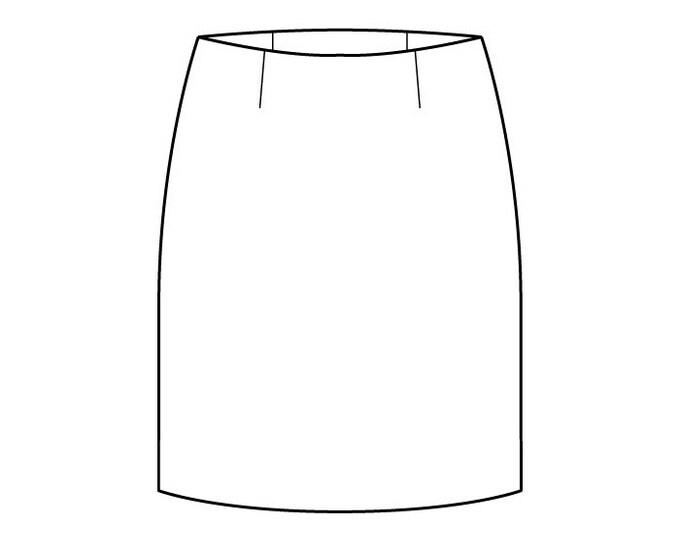Basic Skirt Pattern Block with Waist Darts - Girls Ages 3-6 - Download PDF