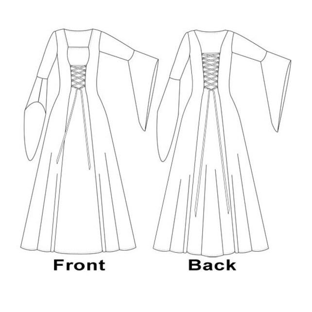 Patrón de costura Anastasia vestido Medieval Reino Unido   Etsy