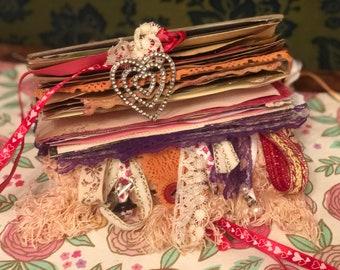 Romantic Junk Journal Diary Boho Gypsy Erotic!
