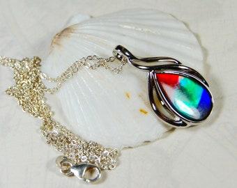 e18568b291e987 Ammolite Pendant.Rainbow ammolite.Canadian ammolite.Ammolite from Canada.Canadian  gemstone.Ammolite jewelery.Ammolite jewelry.#052819