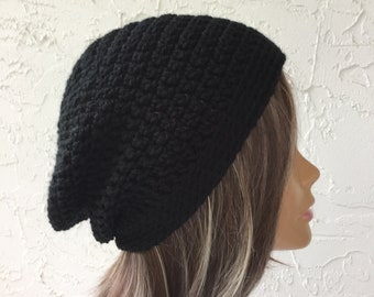 1332b68c699 Black Slouchy Beanie Hat For Women