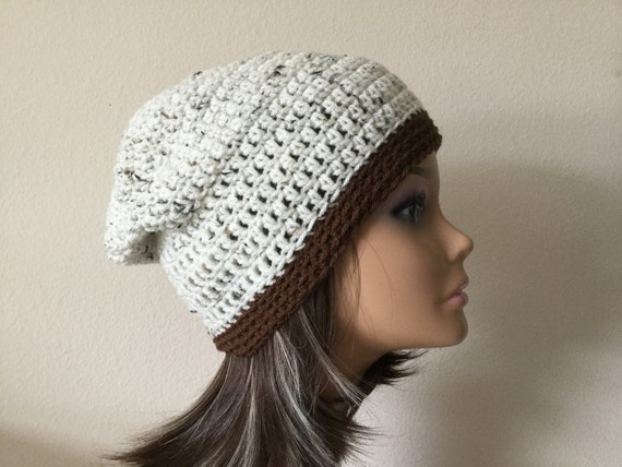 Slouchy Beanie Hat Ready to Ship Teen or Adult size Oatmeal  84b11b83c72