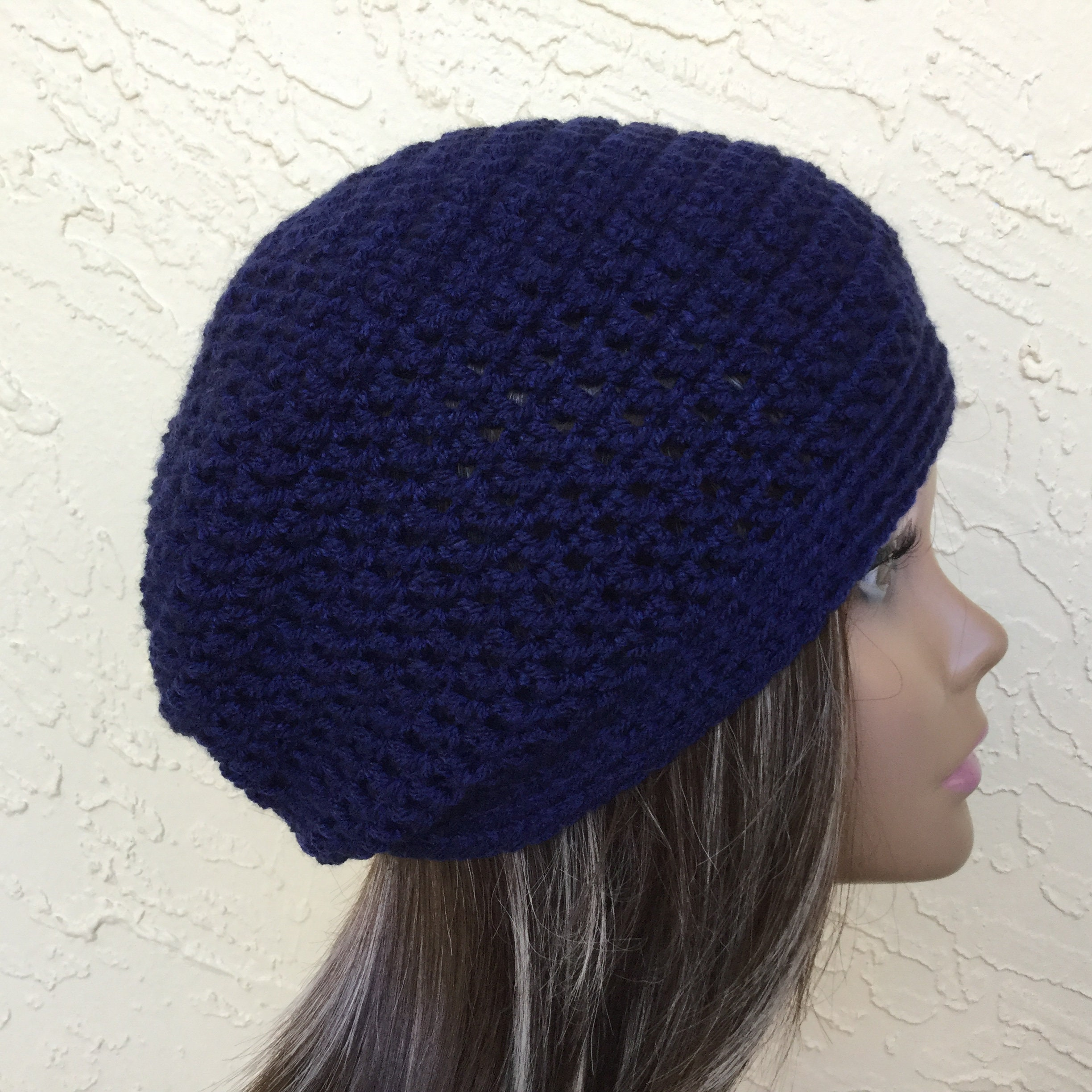 fbdc1b483 Navy Blue Slouchy Beanie Hat For Women
