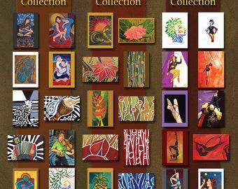 Flora Collection- TEN Flower Cards form Original Art