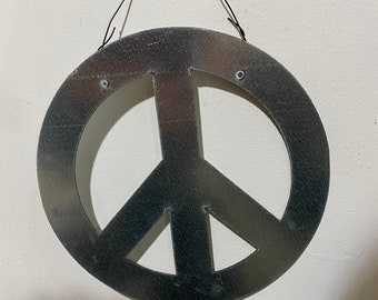 Metal base for Mosaic Peace sign made in our studio. FREE SHIPPING
