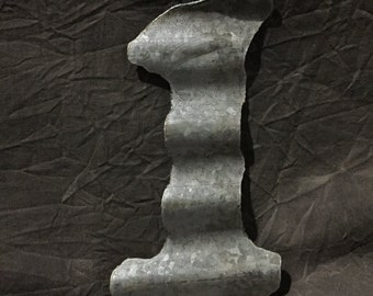 "10"" 1 - Recycled Antique Roofing Tin Number by JunkFX"