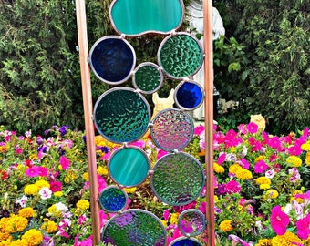 Large Paw Print Elements garden art sun catcher. Free Shipping. You pick the colors you want