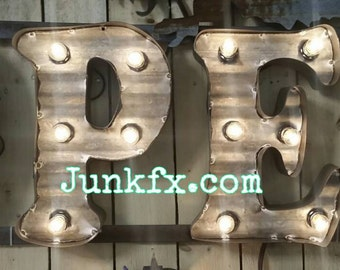 Marquee lighted OPEN sign