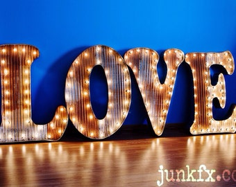 Vintage Style Marquee Lighted LOVE Sign 48 inches tall