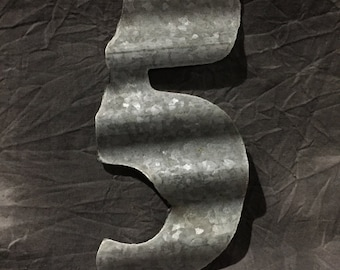 "6"" 5 - Recycled Antique Roofing Tin Number by JunkFX"