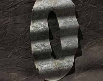 "6"" 0 - Recycled Antique Roofing Tin Number by JunkFX"