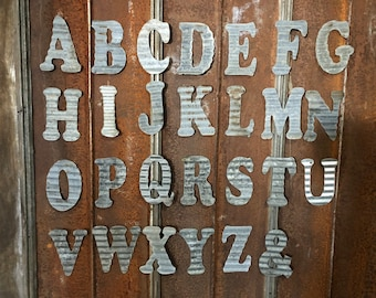 """10"""" S - Recycled Antique Roofing Tin Letter by JunkFX"""