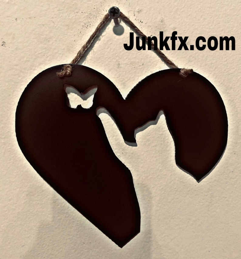 Metal heart and cat image 0
