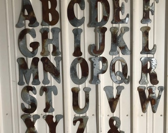 """10"""" I - Distressed Galvanized Letter by JunkFX"""