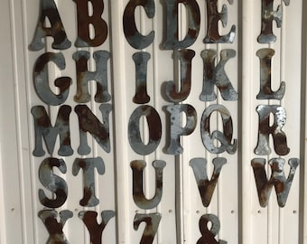 """10"""" T- Distressed Galvanized Letter by JunkFX"""