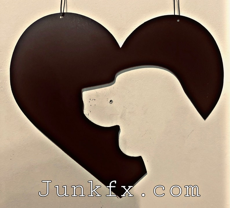 Dog head in heart image 0