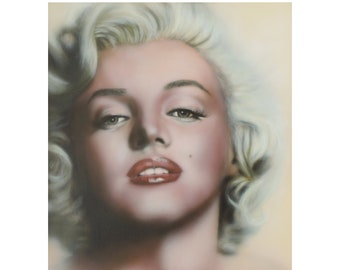 Marilyn Monroe, One Of A Kind Original Painting Titled: Breathless