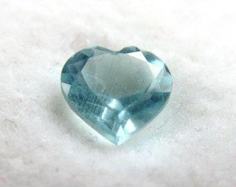 Sky Blue Heart Shaped Topaz Loose Gemstone 5mm Size, .430 Carats