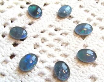 Opal Triplet Cabochons 8x6mm Ovals