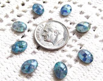 Mosaic Opal Triplet Cabochon Loose Gemstone