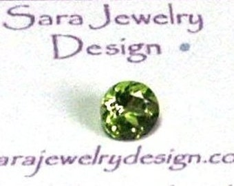Peridot Loose Gemstone Solitaire .87 Minimum Carat 6mm Round