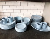 1980s Retired Fiestaware Periwinkle Set Dinner Side Salad Bowls Serving Great opportunity to fill in your set