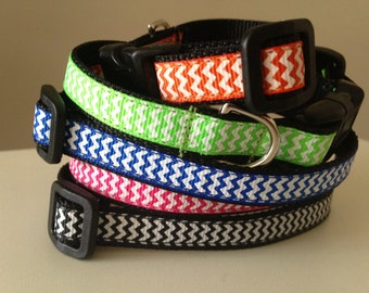 1/2 inch Small Chevron Dog Collar