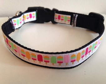 Summer Popsicle 1/2 inch Small Dog Collar