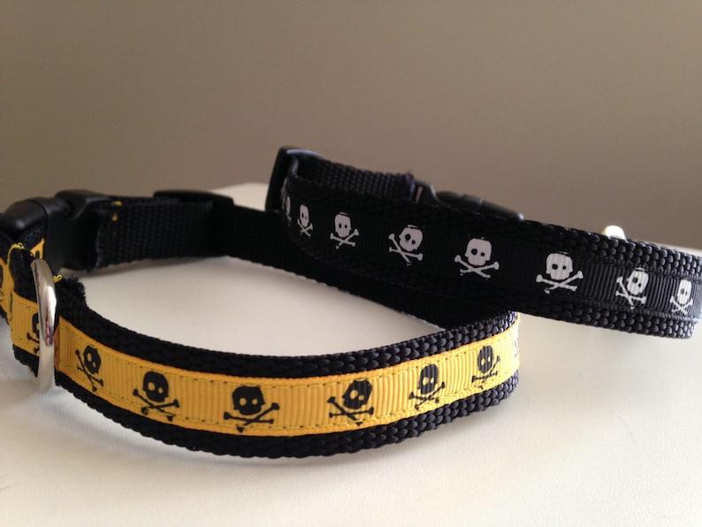 58 inch Skull Dog Collar Size Medium in Boy Colors