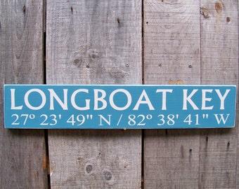 Signs, Custom, Coordinates, Latitude, Longitude, Coastal Living, Nautical, Door Decor, Handpainted, Beach, Christmas Gifts