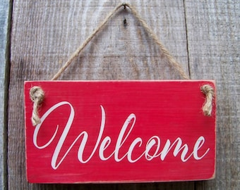Wood Signs, Welcome, Handpainted, Nautical, Signs, Coastal Decor, Home Decor, Beach, Rustic