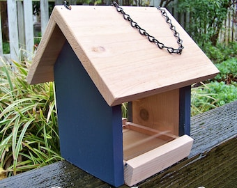 Rustic Bird Feeders, Non-Toxic, Eco-Friendly Bird Feeders, Cedar Feeder,  Hand-Crafted, Hanging Feeder , Pacific Northwest, Garden Accents