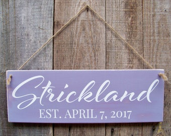 Rustic Wood Signs,  Personalized Sign, Family Established Sign, Lake, Farm, Beach, Wood Sign, Hand Painted, Home Decor, Rustic Signs