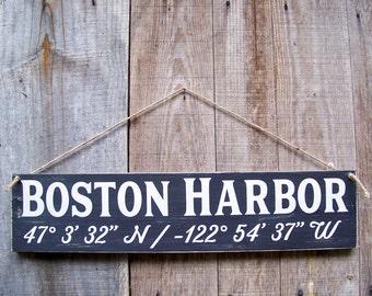 Coastal Signs, GPS Sign, Custom, Coordinates, Latitude, Longitude, Coastal Living, Coastal Chic, Handpainted, Beach, Wedding Gifts