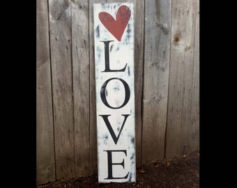 Rustic Handpainted Signs,  Family Signs, Door Decor, Handpainted, Love Sign, Home Decor, Valentine, Gift, Signs, Porch Decor, Primitive