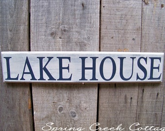 Signs, Lake House, Handpainted, Lake, Wood Signs, Reclaimed, Home Decor, Nautical, Rustic, Routered Edge