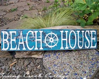 Handpainted Wooden Signs, Beach House, Coastal Living, Beach Signs, Nautical Decor, Unique Wood Signs, Coastal Decor, Rustic Signs