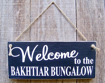 Welcome Signs, Modern Rustic, Wood Signs,  Personalized Signs, Porch Decor, Door Decor, Wood Signs, Handpainted, Rustic